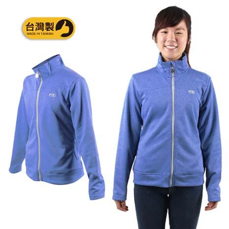 【MJ3】女休閒外套-立領 刷毛 保暖 台灣製 藍M