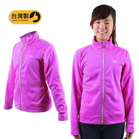 【MJ3】女休閒外套-立領 刷毛 保暖 台灣製 紫L