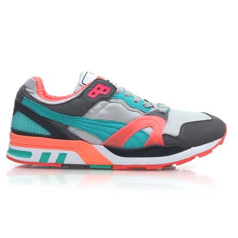 【PUMA】TRINOMIC XT 2 PLUS 男休閒鞋- 復古運動鞋 灰湖水綠橘