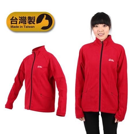 【LeVon】女立領外套 -刷毛 保暖 台灣製 紅XL