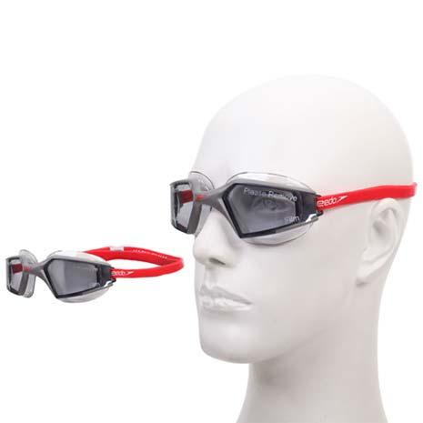 【SPEEDO】AQUAPULSE MAX 2成人進階型泳鏡-游泳防霧抗UV 灰銀F