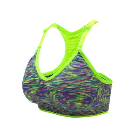 【INSTAR】細肩帶女運動內衣-運動BAR 背心 韻律 有氧 瑜珈 比基尼 螢光綠L