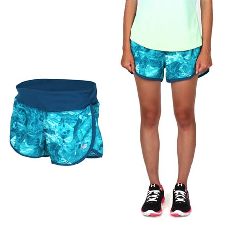 【NEWBALANCE】女運動短褲-慢跑 路跑 反光 NB 紫白M