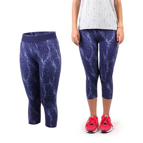 【PUMA】女運動緊身長褲-七分 有氧 健身 路跑 慢跑 紫S