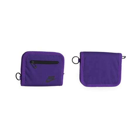 【NIKE】零錢包-手拿包 收納包 錢袋 皮夾 紫黑F