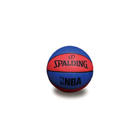 【SPALDING】NBA 一號籃球 迷你小球-斯伯丁 NBA 戶外 藍紅