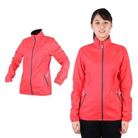 【PUMA】NIGHTCAT女反光立領風衣外套- 防風 慢跑 路跑 莓紅銀S