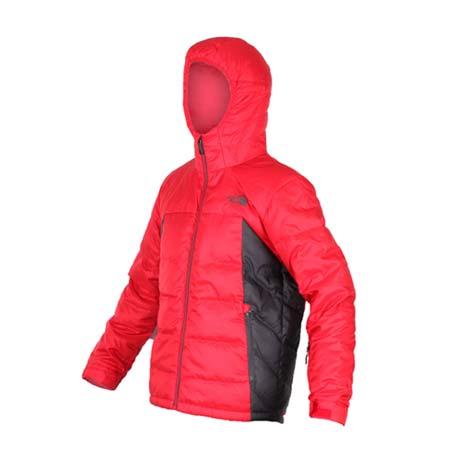 【THE NORTH FACE】男550 FILL羽絨外套 - 防風 保暖  黑紅
