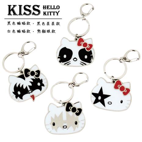 kiss x hello kitty 鑰匙圈 4款