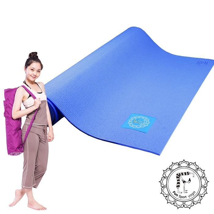 Fun Sport 樂活環保瑜珈墊-莓果藍~送立樂沛背袋(紫袋)+束帶(PER環保材質)