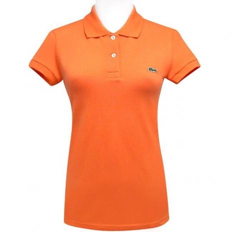 LACOSTE 橙色鱷魚標誌短袖POLO衫【USA 2號】