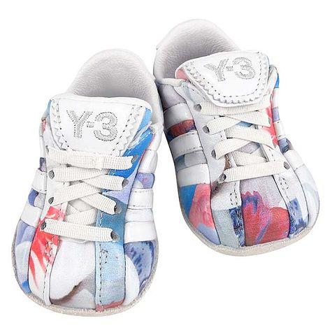 Y-3山本耀司 多彩皮革綁帶嬰兒鞋