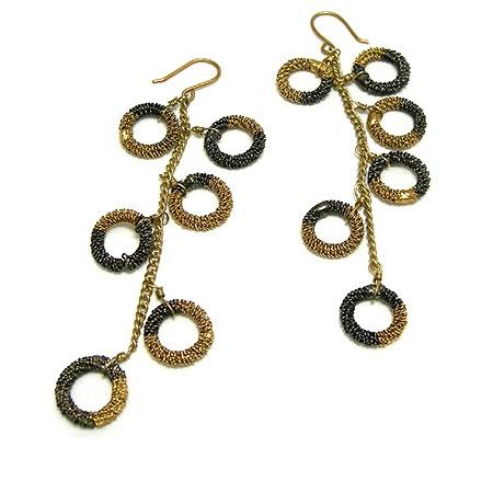 KENNETH COLE 波希米亞金色魅力耳環-服飾‧鞋包‧內著‧手錶-myfone購物