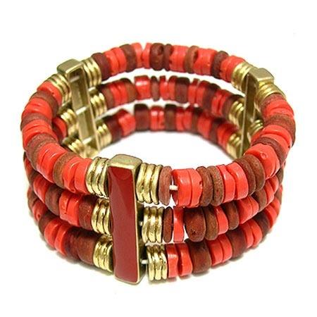 LIZ claiborne 維多利亞風情手環-紅色