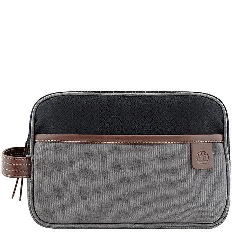 Timberland 帆布化妝包/手抓包-大型 /灰色(app)-服飾‧鞋包‧內著‧手錶-myfone購物