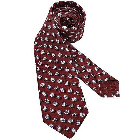GUCCI 雨傘圖樣絲質造型領帶-紅色(app)