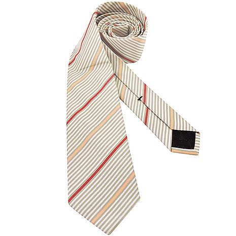 GUCCI 條紋棉質造形領帶-卡其色(app)
