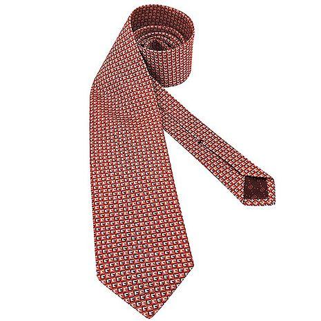 GUCCI G字紋絲質造型領帶-橘紅色(app)