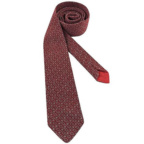 GUCCI 菱格紋純棉造型領帶-紅色(APP)