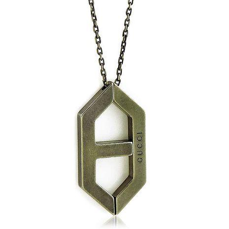 GUCCI 船塢造型墜飾925純銀項鍊(特賣)