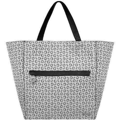 GUESS LOGO織紋托特包/大型-黑色