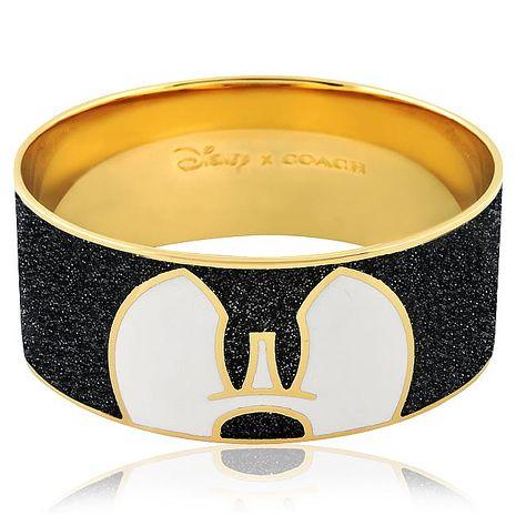 COACH Disney米奇琺瑯設計寬版手環(特賣)