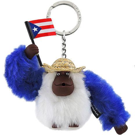 KIPLING 波多黎各國旗猩猩造型鑰匙圈吊飾-限量款