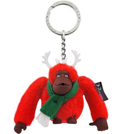 KIPLING 歡樂聖誕節猩猩造型鑰匙圈吊飾-限量款