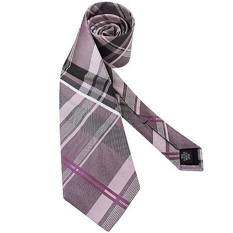 MICHAEL KORS 菱格紋造型領帶-亮粉色
