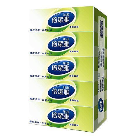 PASEO倍潔雅超質感盒裝面紙160抽x5盒X10串/箱-免運費