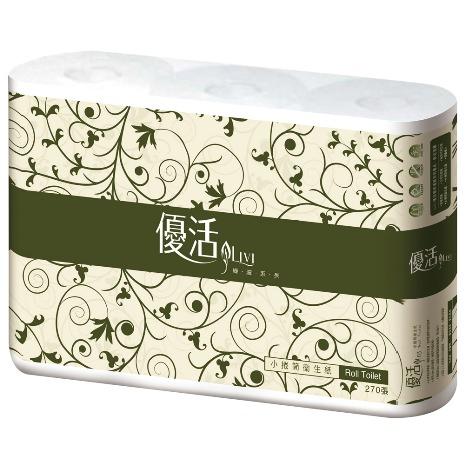 Livi優活小捲筒衛生紙270節x6捲x16串/箱