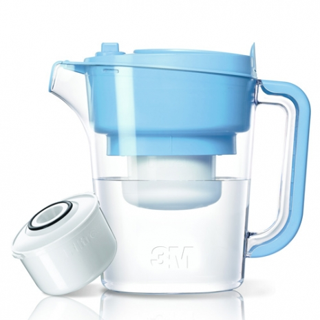 【3M】即淨長效濾水壺-藍色(內含濾心)(XN004228807)
