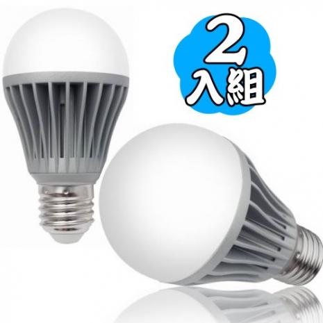 【真明麗】12W LED節能燈泡 超值2入組(白光/黃光)白光