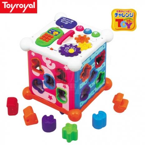 日本《樂雅 Toyroyal》新型聲光益智六面盒