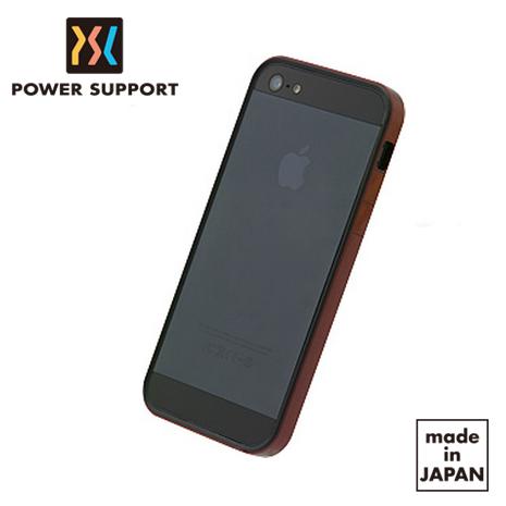 POWER SUPPORT iPhone5s/5 Flat Bumper保護邊框(附鏡面膜 + 霧面膜) -金屬紅款
