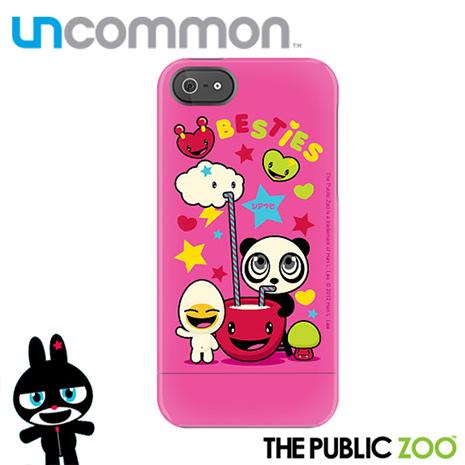 Uncommon iPhone5/5S The Public Zoo系列滑蓋保護殼 - Besties