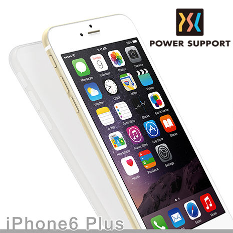 POWER SUPPORT iPhone6 Plus/6s Plus (5.5吋) Air jacket 日製超薄保護殼- 透黑