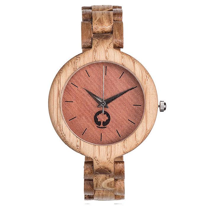 Plantwear 手工實木手錶 Glamour-Oak 咖啡棕-橡木/35mm