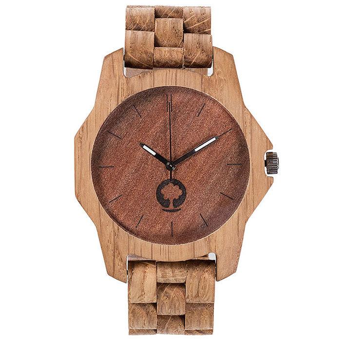 Plantwear 手工實木手錶 Sierra -Oak 咖啡棕-橡木/48mm