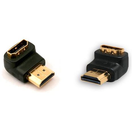 Bravo-u HDMI(公)對HDMI(母)L型直角鍍金轉接頭