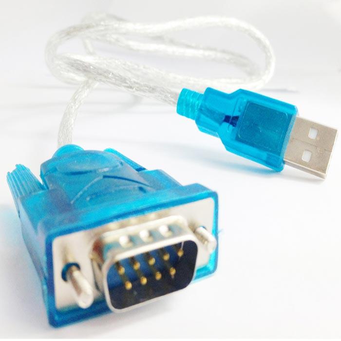 USB 2.0-RS232 9-pin高速數據傳輸線(藍)支援win8
