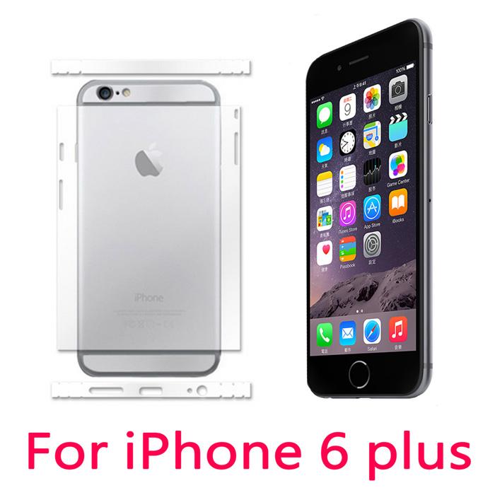 Apple iphone 6 Plus 5.5吋 亮面保護側邊/背面貼(2入組)