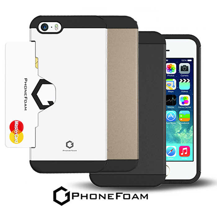 PhoneFoam Golf Fit iPhone 5/5S 插卡式吸震保護殼