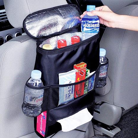 車用椅背多功能保溫保冷收納置物袋(黑)-相機.消費電子.汽機車-myfone購物
