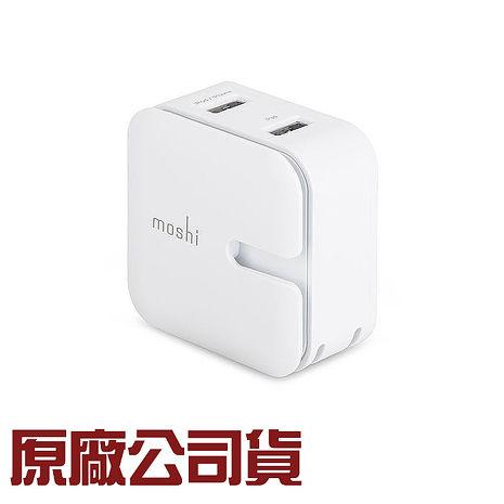 {原廠公司貨}Moshi-Rewind 高效能雙端口電源充電器