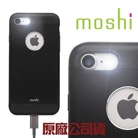 {原廠公司貨}Moshi iGlaze for iPhone 7 超薄時尚保護背殼(經典黑)