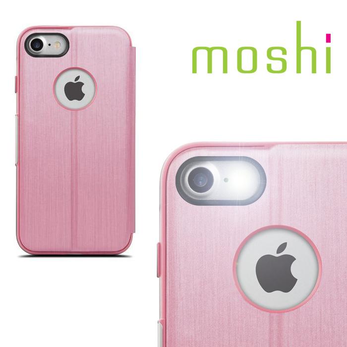 {原廠公司貨}MOSHI SenseCover for iPhone 7 感應式極簡保護套(玫瑰粉)