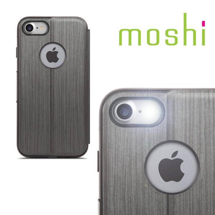 {原廠公司貨}MOSHI SenseCover for iPhone 7 感應式極簡保護套(炭黑)