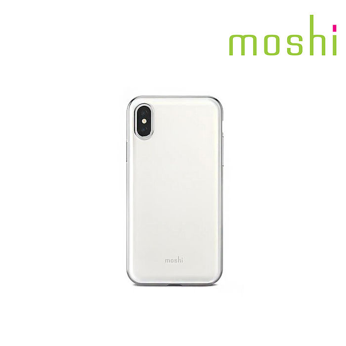 {原廠公司貨}Moshi iPhone X iGlaze 超薄時尚保護背殼黑