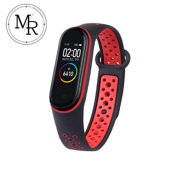 MR 小米手環3/4通用撞色矽膠運動替換錶帶